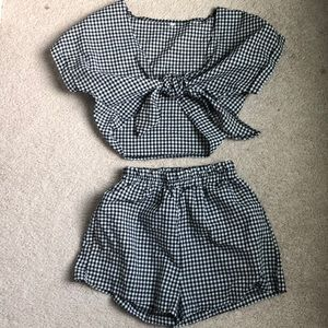 SHEIN Other - Gingham two piece romper